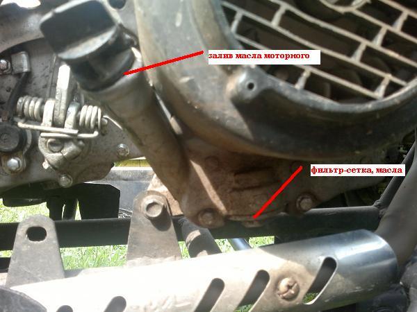 Замена моторного масла на квадроцикле150сс. (2)