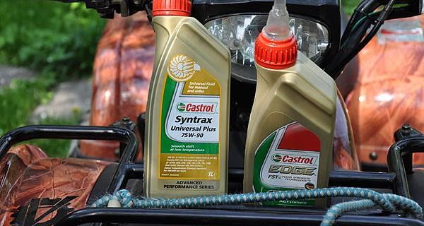 Замена моторного масла на квадроцикле150сс.