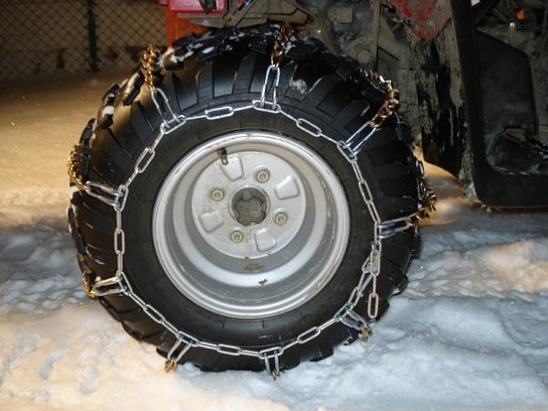 Как увеличить проходимость квадроцикла в снегу Цепи. Шипы. Гусеницы. (3)