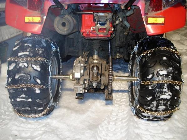 Как увеличить проходимость квадроцикла в снегу Цепи. Шипы. Гусеницы. (4)