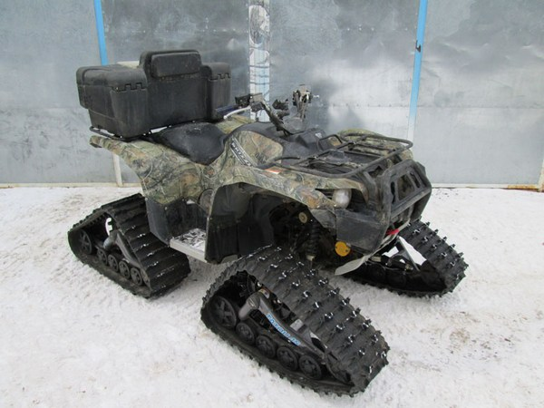 Как увеличить проходимость квадроцикла в снегу Цепи. Шипы. Гусеницы. (7)