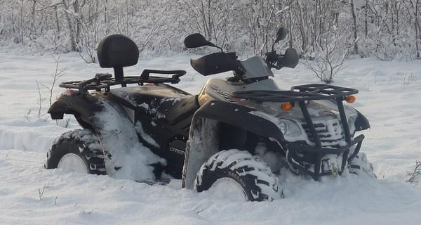 Как увеличить проходимость квадроцикла в снегу?