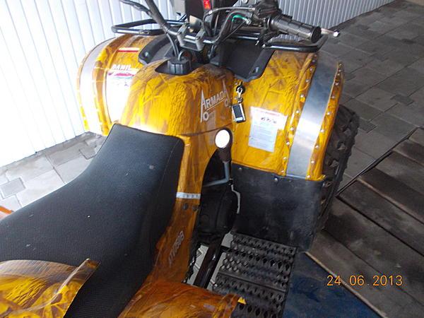 Расширители арок (крыльев) на квадроцикл 150сс своими руками. (8)