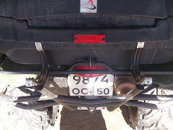 Перевозка спиннинга (удочки) на квадроцикле. (8)