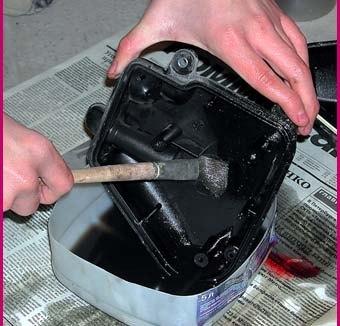 Прочистка и замена воздушного фильтра на квадроцикле. (4)