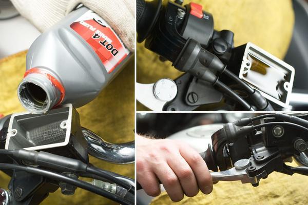 Как прокачать тормоза на квадроцикле. (5)