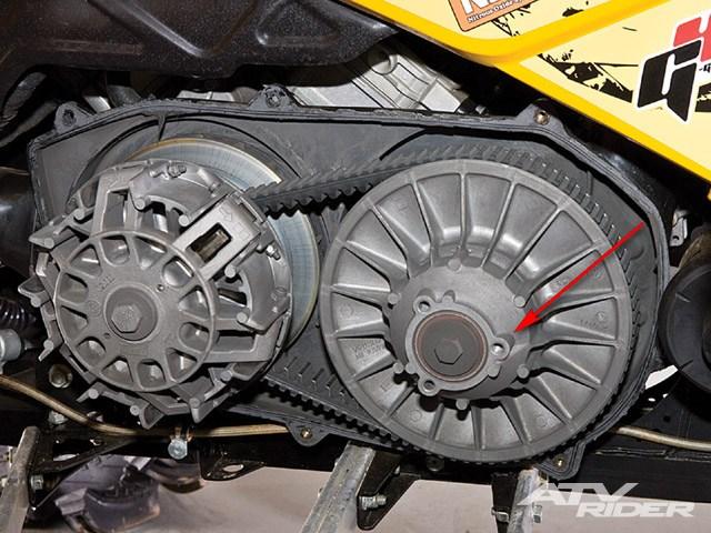 Замена ремня вариатора на квадроцикле. (4)