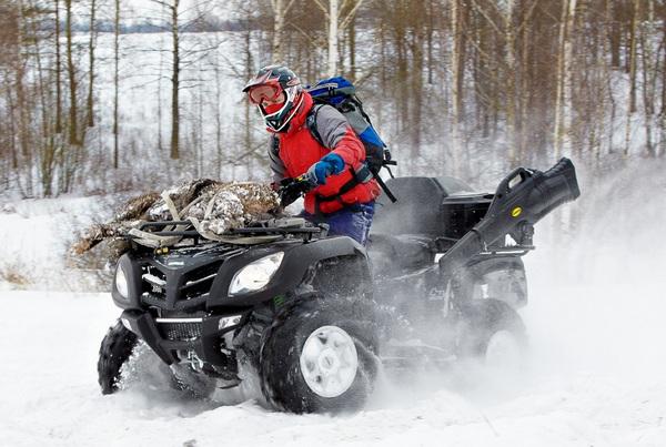 Квадроцикл зимой 3